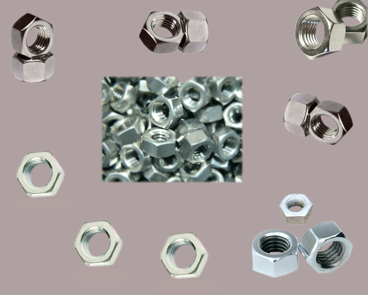 5//16-24 Fine Thread Finished Hex Nut Stainless Steel 18-8 Pk 50